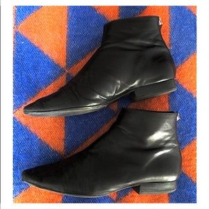 mango minimal leather boots